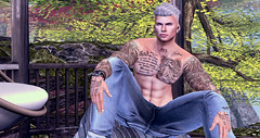 Lost in the Spirit (DoxxDivine) Tags: nature sl tattoo canadian landscape canada divine fashion clothes design poses jeans tats relaxing