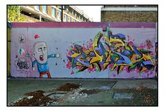 STREET ART by MOWSCODELICO & CHIPS (StockCarPete) Tags: chipscdsk glory mowscodelico stockwell halloffame streetart londonstreetart urbanart graffiti character london uk