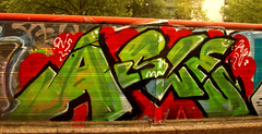 graffiti in Amsterdam (wojofoto) Tags: amsterdam nederland netherland holland graffiti streetart wojofoto wolfgangjosten asle trackside throws throwups throw throwup