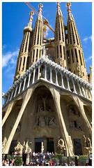 Barcelona and Gaudi's Sagrada Familia. Just stunning. (Greenstone Girl) Tags: sagradafamilia gaudi buildings