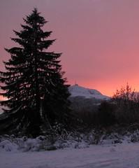 Puy de Dome_2 (pierreszerk) Tags: puydedome montagne neige crépuscule mountain sunset coucherdesoleil