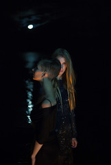Lithium (innamosina) Tags: black water couple dark girl mood moon night
