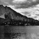 Mount Burgess as a Magnificent Backdrop for Emerald Lake (Black & White, Yoho National Park) thumbnail
