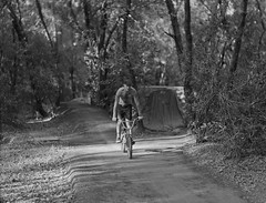 marcus on bike minutes before breaking his heal exploded (Garrett Meyers) Tags: graflexseriesd4x5 garrettmeyers garrett meyers largeformat portrait blackandwhitefilm graflex4x5 graflex 4x5film graflexphotographer bmx trails friends woods bikes dirtjumps homedeveloped marcusobrien jeremykaiser andrewbentley