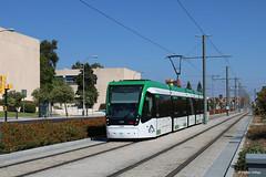 Málaga 305 zwischen den Haltestellen Universidad und Clínico, 29.09.2018 (Tramfan2011) Tags: spanien spain strasenbahn málaga urbos tránvia caf tram tranway