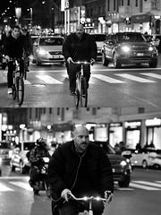 [La Mia Città][Pedala] (Urca) Tags: milano italia 2018 bicicletta pedalare ciclista bike bicycle nikondigitale scéta ritrattostradale portrait dittico biancoenero blackandwhite bn bw 115857