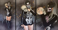 Living Dead Girl (ZexyQueen) Tags: secondlife sl slblog slblogger slfashion slstyle halloween spooky skeleton spiders ultra ultraevent slphotography astralia nantraposes nantra taketomiwest clubtaketomi id nerido no collabor88 yummy hashtag izzies inner demons