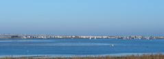 Mudeford Sandbank Pano (TrishChurchUK) Tags: beach huts mudeford sand spit sea sun