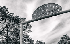 Mogollon Cemetery (pmkelly) Tags: 31daysofhalloween cemetery ghosttown halloween mogollon newmexico sign