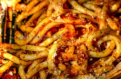 Spaghetti Parmesan with Meat sauce (a2roland) Tags: normanzeba2rolandyahoocom spaghetti parm parmesan meat sauce red orange glow noodles fried cheese romano meal eat food dinner macro close pasta flour starch atkins diet