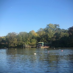 Thursday morning 9am (marc.barrot) Tags: landscape park am sky bright uk nw3 london pond swim heath hampstead