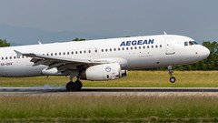 Airbus A320-232 SX-DGV Aegean Airlines (William Musculus) Tags: airport spotting sxdgv aegean airlines airbus a320232 basel mulhouse freiburg euroairport eap bsl mlh lfsb aee a3 a320200