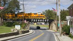 Maryland Midland In Thurmont (DJ Witty) Tags: railroad photography emd dieselelectric freight locomotive sd402 sd45 marylandmidland geneseewyoming nikond610