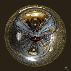 Crystal Ball (360 degrees panorama in inverse planet): Saint Peter's Basilica, Rome, Italy (SpirosK photography) Tags: 360 360degrees panorama stitch microsoftice planet polar polarpanorama crystalball ball sphere 360panorama saintpetersbasilica rome italy saintpeters sanpietro