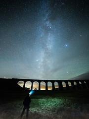 Ribblehead & me (diamond-skies) Tags: milky way ribblehead viaduct settle carlisle ingleton