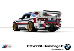 BMW CSL Hommage R Concept (2015) (lego911) Tags: bmw csl hommage r concept 2015 2010s racer m coupe turbo auto car moc model miniland lego lego911 ldd render cad povray german germany stripes instagram 500 500th follower lunuts whataconcept what challenge 16 16th birthday 11th 11 anniversary