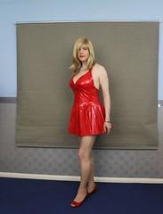 Blonde ambition (Joanne (Hay Llamas!)) Tags: transgender shemale genderfluid genderqueer tg brunette tgirl gurl cute uk brit british britgirl joanne hayllamas pvc vinyl latex clubdress