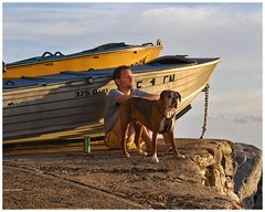 Chillin' (gro57074@bigpond.net.au) Tags: goldenhour colour f100 2470mmf28 tamron d850 nikon candid boat boxer dog man sydney bondibeach