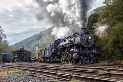 Departing the Port (Wheelnrail) Tags: rbmn reading blue mountain northern 425 462 steam locomotive railroad rail road rails pacific passenger train trains smoke port clinton pennsylvania pa
