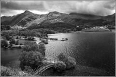 Llyn Padarn Llanberis (planetreeimages) Tags: lake llynpadarn llanberis bridge mountains wales northwales monochrome