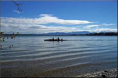 Wolken und Wellen (mhobl) Tags: starnbergersee wolken ruderboot bayern wellen