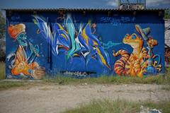 Graff by Scaf, Valergraffiti & Abys ! (Steph Land) Tags: scaf graff graffiti spray sprayart artiste art artderue street streetart zeiss zeisslens carlzeisslenses carlzeiss peinture peintre mur tetedemort chicha lezard
