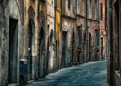 The streets of Lucca (Leaning Ladder) Tags: italy italia street canon 7dmkii leaningladder lucca