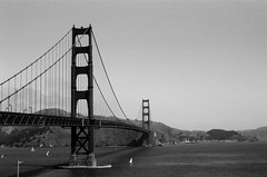 Vue Sud du Golden Gate Bridge / Battery Lancaster - San Francisco, Californie (Ludovic Macioszczyk Photography) Tags: vue sud du golden gate bridge battery lancaster san francisco californie nikon fm 135 kodak tmax 400 iso mai 2018 pont étatsunis © ludovic macioszczyk usa film argentique lumière 35mm noir et blanc monochrome california voyage vacances grain bay area sf street view amérique district photography analog ville city life