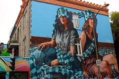 Hey, No Peeking (Art By Pem Photography: Tao Of The Wandering Eye) Tags: fineartphotography canon canoneosrebelsl1 canonefs24mmf28stm canada montreal travel urban urbanart streetart mural murals scenicsnotjustlandscapes