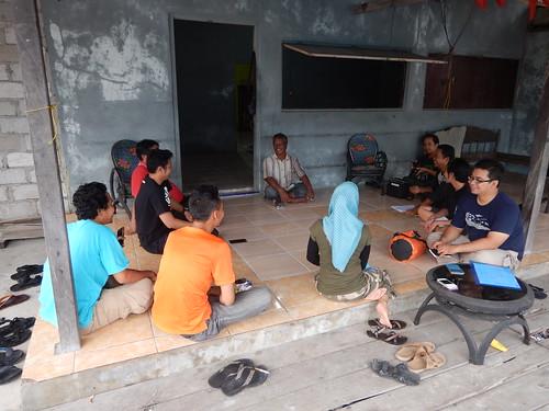 Coordination with Head of Teluk Bogam Village