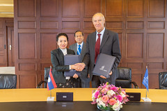 WIPO and Lao PDR Sign MoU (WIPO | OMPI) Tags: assemblies bilateralmeeting directorgeneral francisgurry ompi wipo laopeoplesdemocraticrepublic