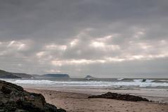 Rayos entre nubes (ccc.39) Tags: asturias xagó gozón cantábrico rayos nubes coast beach sunset sea