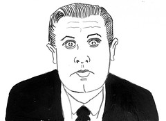 Ed Wood Film Director of Glen or Glenda 2673 (Brechtbug) Tags: ed wood jr director glen or glenda 1953 bride monster 1955 plan 9 from outer space 1959 film movie directors cult classic films movies scifi science fiction stores halloween pen ink illustration portrait portraits 2018 new york city october nyc edward d caricature