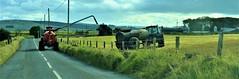 Disconnect (ronmcbride66) Tags: fertiliser slurry tractor slurrytanker farm farming rural windturbines farmstead silos woodland fencing coth5
