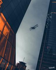 Airplane Cuatro Torres (Ragonar) Tags: city urbanscape streetphotography monochrome ragonar skyline madrid panasonic lumix lumixphotography canon2470mm