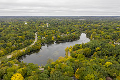 A drone's eye view of Wing Lake (Mercenaryhawk) Tags: dji mavic 2 pro mavi drone aerial wing lake minnetonka minnesota mn trees fall autumn landscape cloudy clouds water reflection quadcopter hasselblad