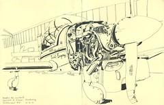 Aéroclub d'Alsace - Strasbourg (lolo wagner) Tags: aérodrome avion strasbourg croquis sketch urbansketchers usk sketchcrawl robin
