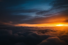 Over the clouds (Pásztor András) Tags: nature sunset sky sun clouds over yellow red orange blue between light fly plane calmness silence beautiful amazing dslr nikon 1870mm d5100 hungary andras pasztor photography 2017