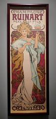 Advertisement for Champagne Ruinart - Alphonse Mucha, 1896 (Monceau) Tags: alphonsemucha mucha champagne advertisement ruinart woman glassofchampagne glass