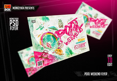 Pool Weekend Flyer (AndyDreamm) Tags: bath bubble bubbles contest foam foamparty jacuzzi jacuzziparty nightclub palm party pool poolparty pools splash spring springbreak summer summerflyer water wet white
