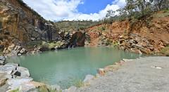 Quarry Pool (philk_56) Tags: perth western australia ellis brook park 60footfalls barrington quarry pool water rocks rockface
