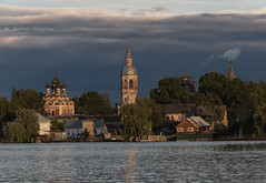 Ostashkov (Lyutik966) Tags: town lake water architecture building church cathedral belltower sky cloud ostashkov city russia ngc