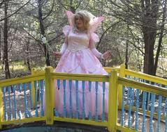 Princess on the bridge (rgaines) Tags: costume cosplay crossplay drag fairyprincess fairygodmother coxfarms