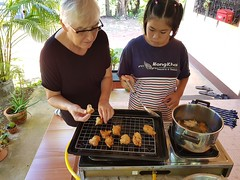 Making fritters 2018-11-1 7 (SierraSunrise) Tags: activities baking esarn fritters frying isaan ministry nongkhai phonphisai thailand youth