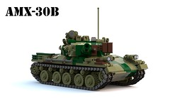 AMX-30B2 (Matthew McCall) Tags: lego military army france french tank armored vehicle amx30 b2 cold war