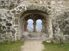 Romanesque double window at Fortress, Jajce, Bosnia and Herzegovina (Paul McClure DC) Tags: jajce balkans feb2017 bosniaandherzegovina castle fortress historic architecture scenery
