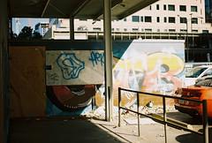 graffiti trashed (jayplorin) Tags: san jose california canon ae1 film graffiti garbage windows urban city abandoned kodak gold 200 35mm