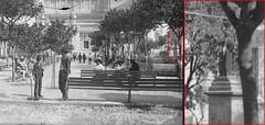 invierno visto en foto de 1889 (Raul Pax) Tags: william henry jackson estatua del invierno fiske jw nueva york plaza de armas guadalajara antigua 1888
