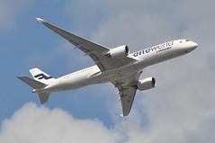 'AY2XR' (AY1332) LHR-HEL (A380spotter) Tags: takeoff departure climb climbout bank banking turn belly airbus a350 a350xwb™ xtrawidebody extra 900 ohlwb oneworld oneworldalliance memberofoneworld logojet livery scheme colours finnair fin ay ay2xr ay1332 lhrhel runway09r 09r london heathrow egll lhr