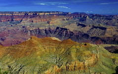 Grand Canyon : From Desert View . . . (Clement Tang **busy**) Tags: travel landscape usa arizona summermorning scenicsnotjustlandscapes nature closetonature concordians grandcanyon geologicfeature whiteclouds bluesky nationalgeographic cplfilter palisadesofthedesert desertview southrim hdr